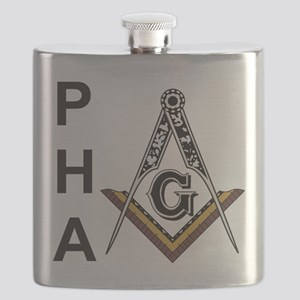 Prince Hall Square and Compass Flask