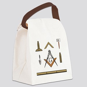 working tools in a grid  Canvas Lunch Bag