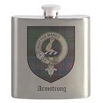 Armstrong Clan Crest Tartan Flask