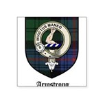 Armstrong Clan Crest Tartan Square Sticker 3
