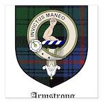 Armstrong Clan Crest Tartan Square Car Magnet 3
