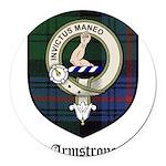 Armstrong Clan Crest Tartan Round Car Magnet