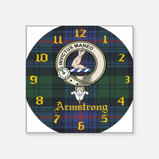 "Armstrong.jpg Square Sticker 3"" x 3"""