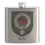 Baillie Clan Crest Tartan Flask