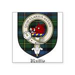 Baillie Clan Crest Tartan Square Sticker 3