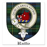 Baillie Clan Crest Tartan Square Car Magnet 3