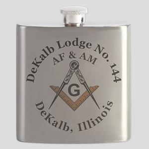 DeKalb Lodge no 144 Flask