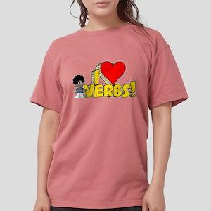 I Heart Verbs - Schoolhouse R Womens Comfort Color