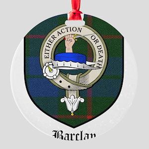 Barclay Clan Crest Tartan Round Ornament