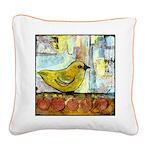 Cute Bird Square Canvas Pillow