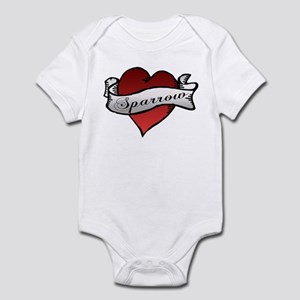 Sparrow Tattoo Heart Infant Bodysuit