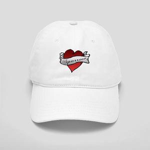 Sparrow Tattoo Heart Cap
