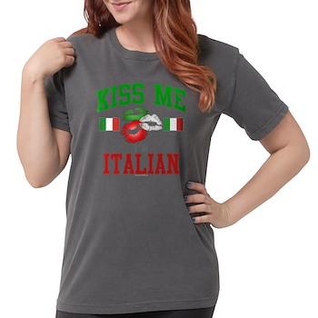Kiss Me I'm Italian Womens Comfort Colors Shirt