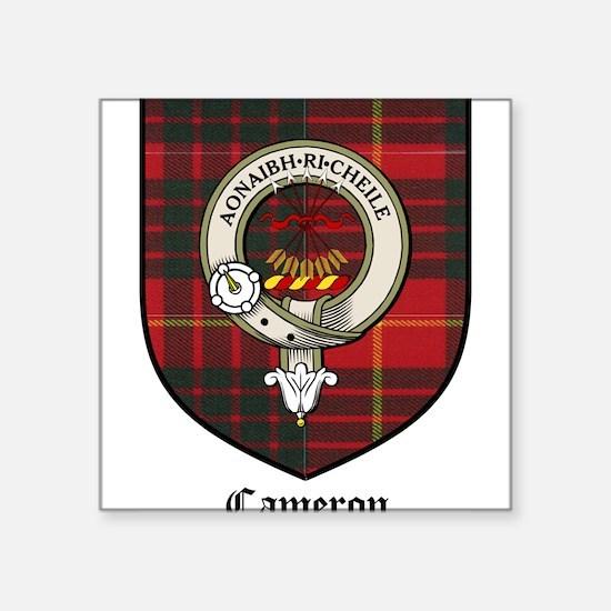 "Cameron Clan Crest Tartan Square Sticker 3"" x 3"""