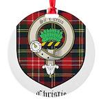 Christie Clan Badge Tartan Round Ornament