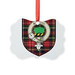Christie Clan Badge Tartan Picture Ornament