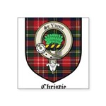 Christie Clan Badge Tartan Square Sticker 3