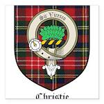 Christie Clan Badge Tartan Square Car Magnet 3