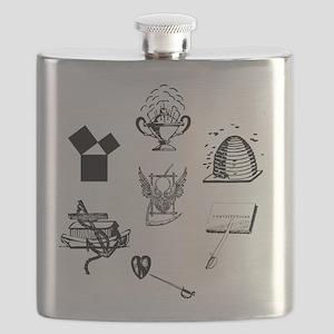 Master Mason Emblems No. 1 Flask