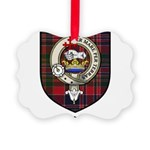 Cook Clan Badge Tartan Picture Ornament