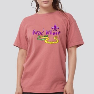 Mardi Gras Bead Whore Womens Comfort Colors Shirt
