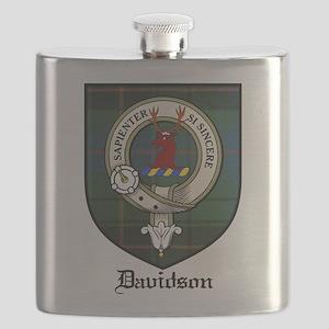 Davidson Clan Crest Tartan Flask