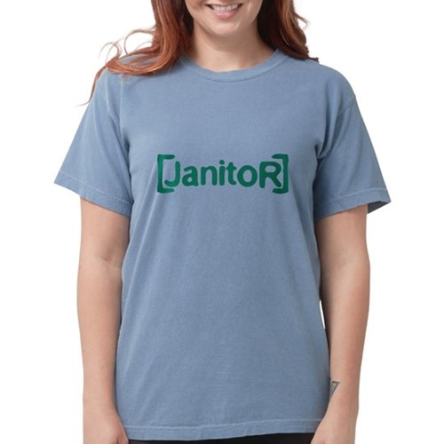 Scrubs Janitor Womens Comfort Colors Shirt