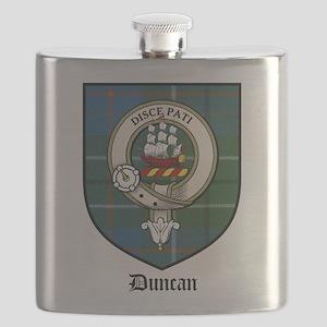 Duncan Clan Crest Tartan Flask