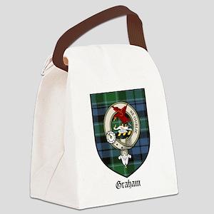 Graham Clan Crest Tartan Canvas Lunch Bag