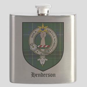 Henderson Clan Crest Tartan Flask