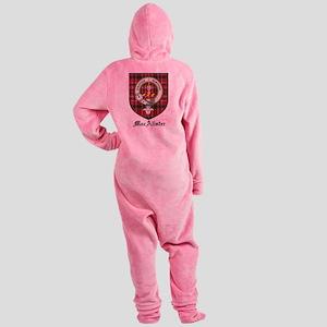 MacAlister Clan Crest Tartan Footed Pajamas