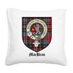 MacBean Clan Crest Tartan Square Canvas Pillow