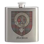 MacBean Clan Crest Tartan Flask