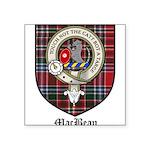 MacBean Clan Crest Tartan Square Sticker 3