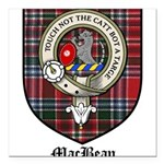 MacBean Clan Crest Tartan Square Car Magnet 3