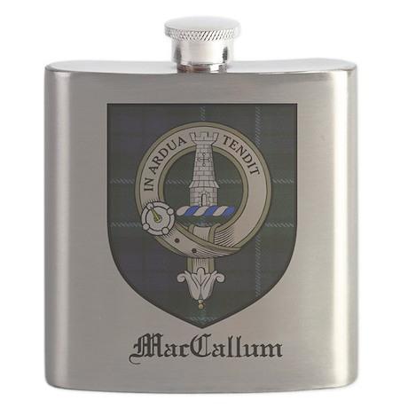 MacCallum Clan Crest Tartan Flask