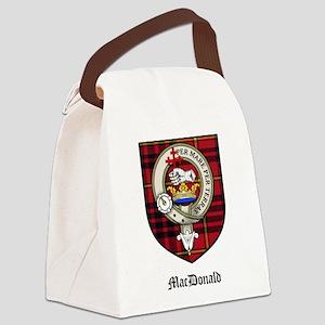 MacDonald Clan Crest Tartan Canvas Lunch Bag