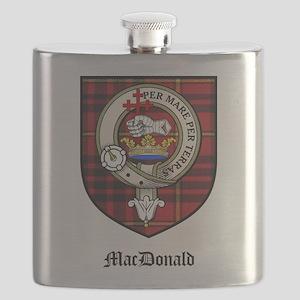 MacDonald Clan Crest Tartan Flask