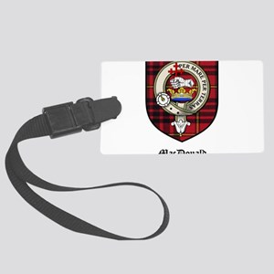 MacDonald Clan Crest Tartan Large Luggage Tag