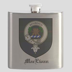 MacEwan Clan Crest Tartan Flask