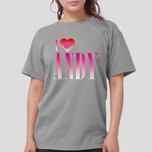 I Heart Andy Womens Comfort Colors Shirt