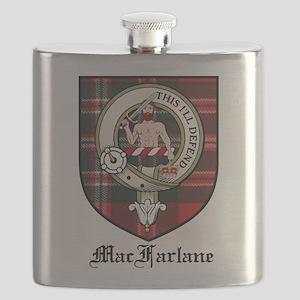 MacFarlane Clan Crest Tartan Flask