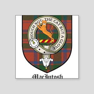 "MacIntosh Clan Crest Tartan Square Sticker 3"" x 3"""