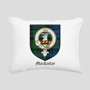 MacKinlay Clan Crest Tartan Rectangular Canvas Pil