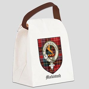 Mackintosh Clan Crest Tartan Canvas Lunch Bag