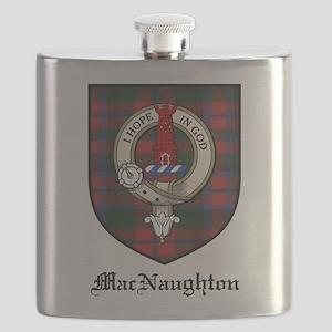 MacNaughton Clan Crest Tartan Flask