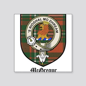 "McGregor Clan Crest Tartan Square Sticker 3"" x 3"""