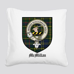 McMillan Clan Crest Tartan Square Canvas Pillow
