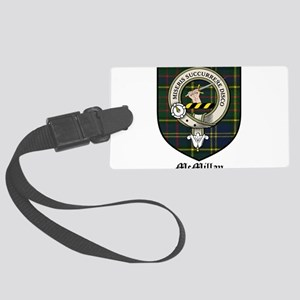 McMillan Clan Crest Tartan Large Luggage Tag