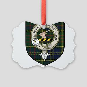 McMillan Clan Crest Tartan Picture Ornament